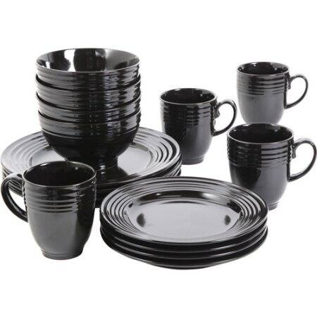 16-Piece Gibson Home Stanza Dinnerware Set (Black) $14.99 or (Cobalt) $18.70 + Free Shipping