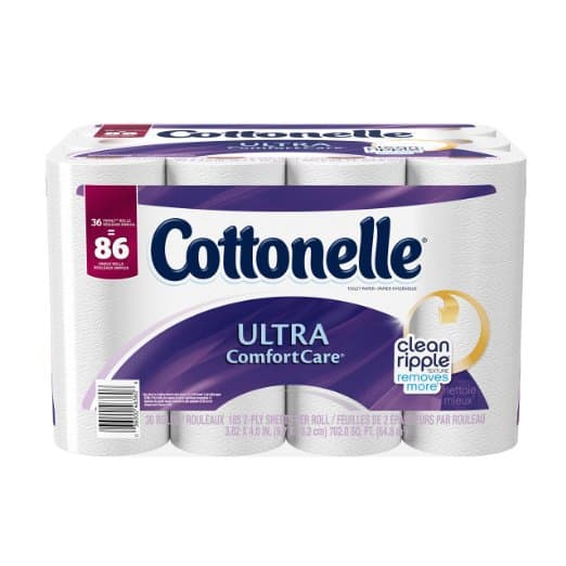 Prime Members: 36-pk Cottonelle Ultra Family Roll Bath Tissue  $11.25 + Free Shipping