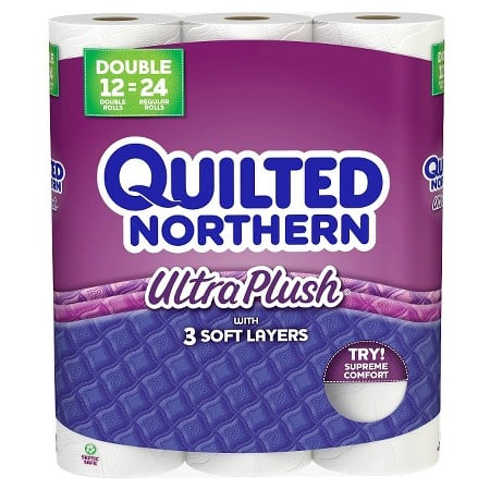 36-Count Quilted Northern Ultra Plush 3-ply or Ultra Soft & Strong 2-ply Double Roll Toilet Paper + $10 Target Gift Card $20.97 + Free store Pickup
