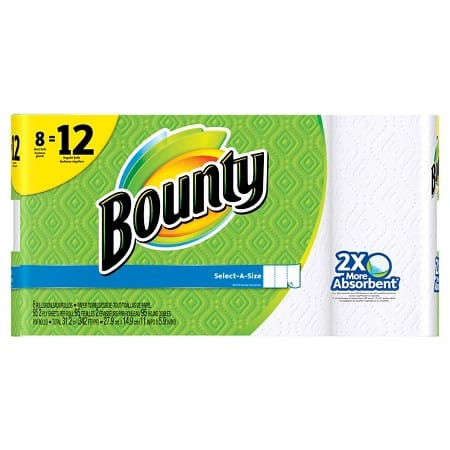 16-Count Bounty Giant Roll Paper Towels + $5 Target Gift Card  $18 + Free Store Pickup