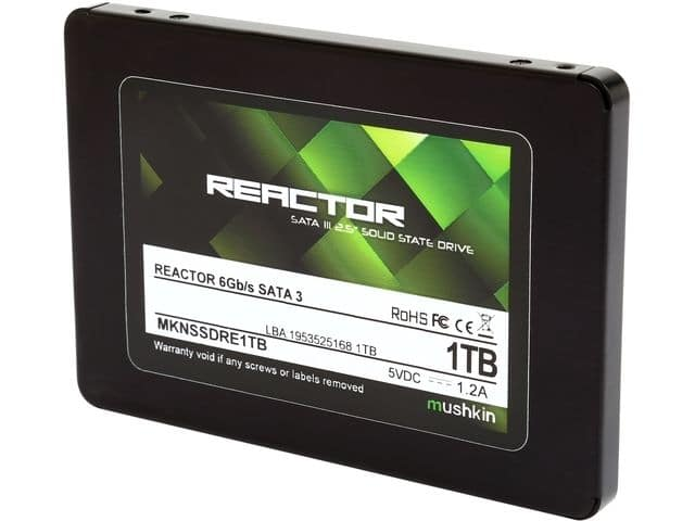 "1TB Mushkin Enhanced Reactor 2.5"" SATA III Solid State Drive  $200 + Free Shipping"