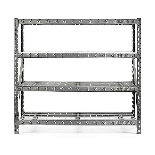 "Gladiator 77"" 4-Shelf Tool-Free Rack (8000-lb Capacity) + $100 SYWR Points  $180 & More + Free Store Pickup"