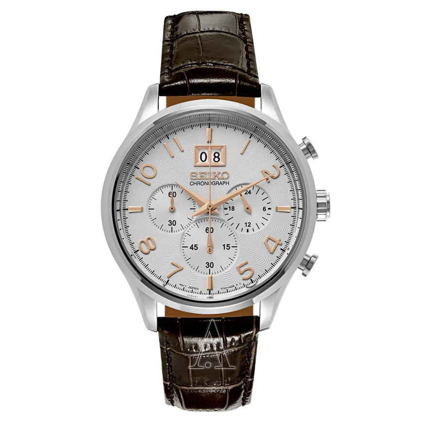 Seiko Men's SPC087 Chronograph Watch w/ Leather Strap  $89 + Free Shipping