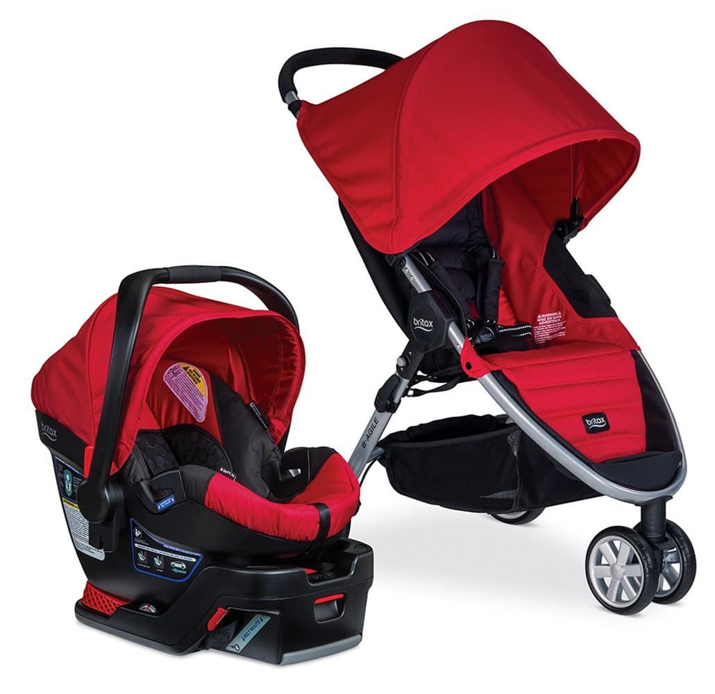 Britax B-Agile 3 w/ B-Safe 35 Travel System (Red)  $267 + Free Shipping