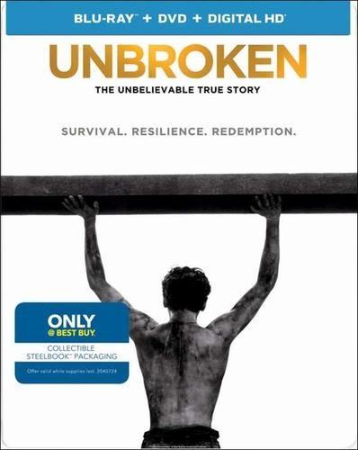 Unbroken Steelbook (Blu-ray + DVD + Digital HD)  $6 + Free Store Pickup