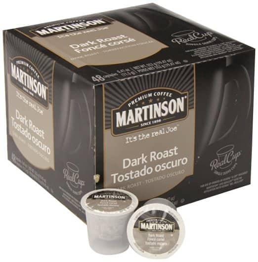 Martinson Coffee DARK ROAST 48-pack Keurig K-Cups RealCups as low as $12.68 or $.26 via S&S Amazon Coupon