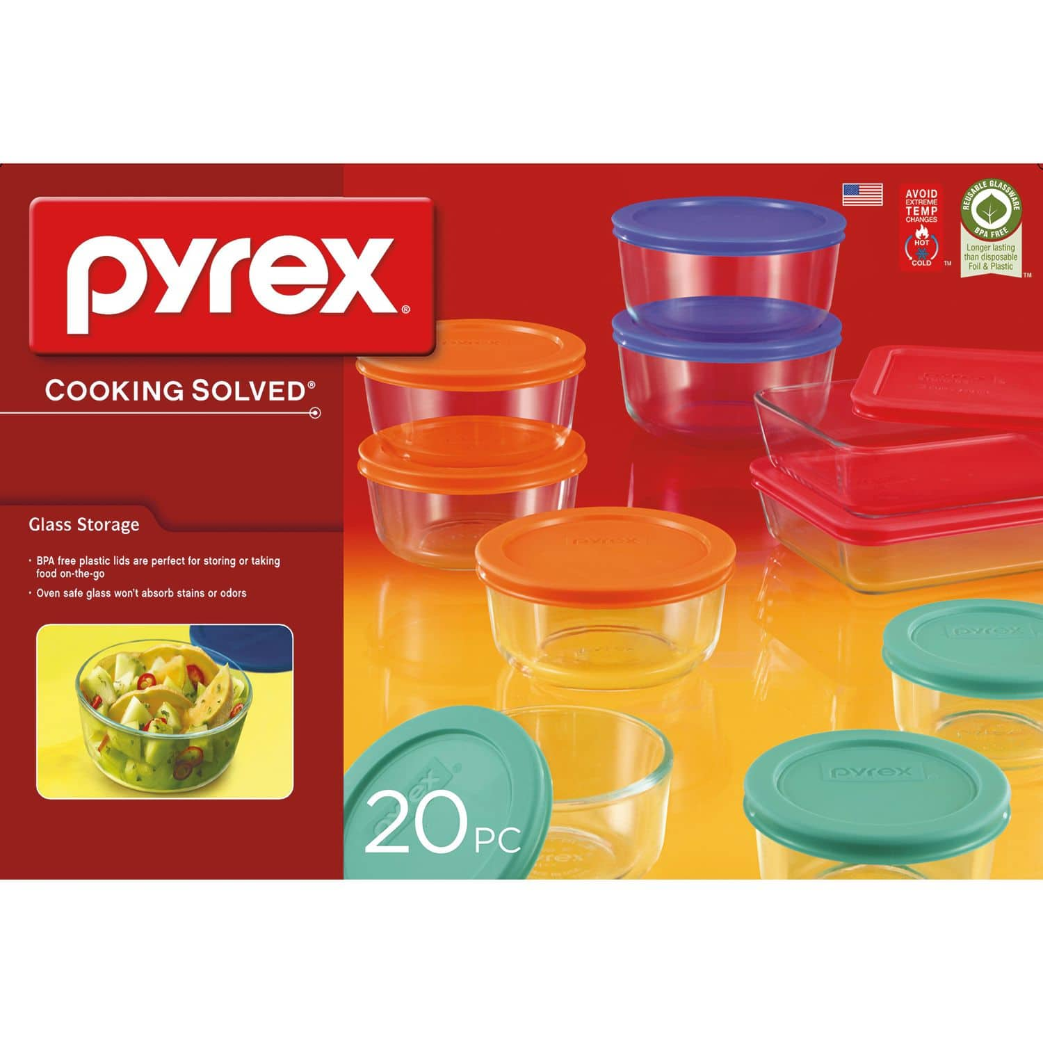 Sam's Club Members: 20-Piece Pyrex Glass Storage Set $14.98 + Free Shipping