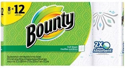 16-Count Bounty Giant Roll Paper Towels + $5 Target Gift Card  $16 + Free Shipping