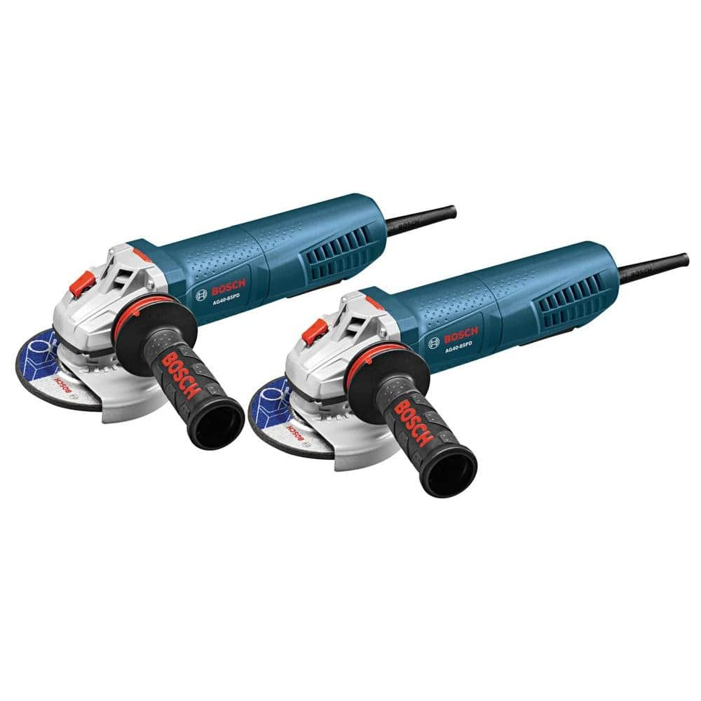 "2-Pk Bosch 8.5-Amp 4-1/2"" Angle Grinder w/ No Lock-on Paddle Switch  $70.30 + Free Shipping"