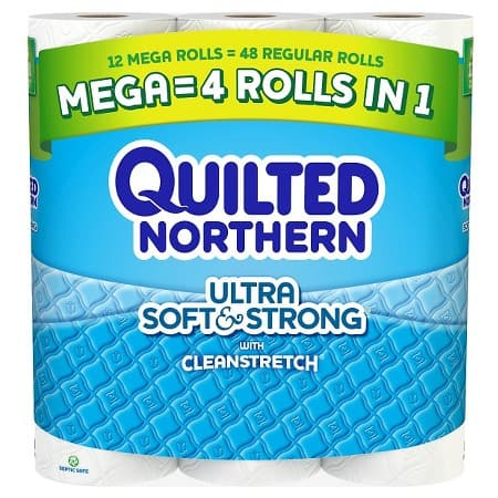 24-Ct Quilted Northern Mega Roll Toilet Paper + $5 Target GC  $16.60 + Free Shipping