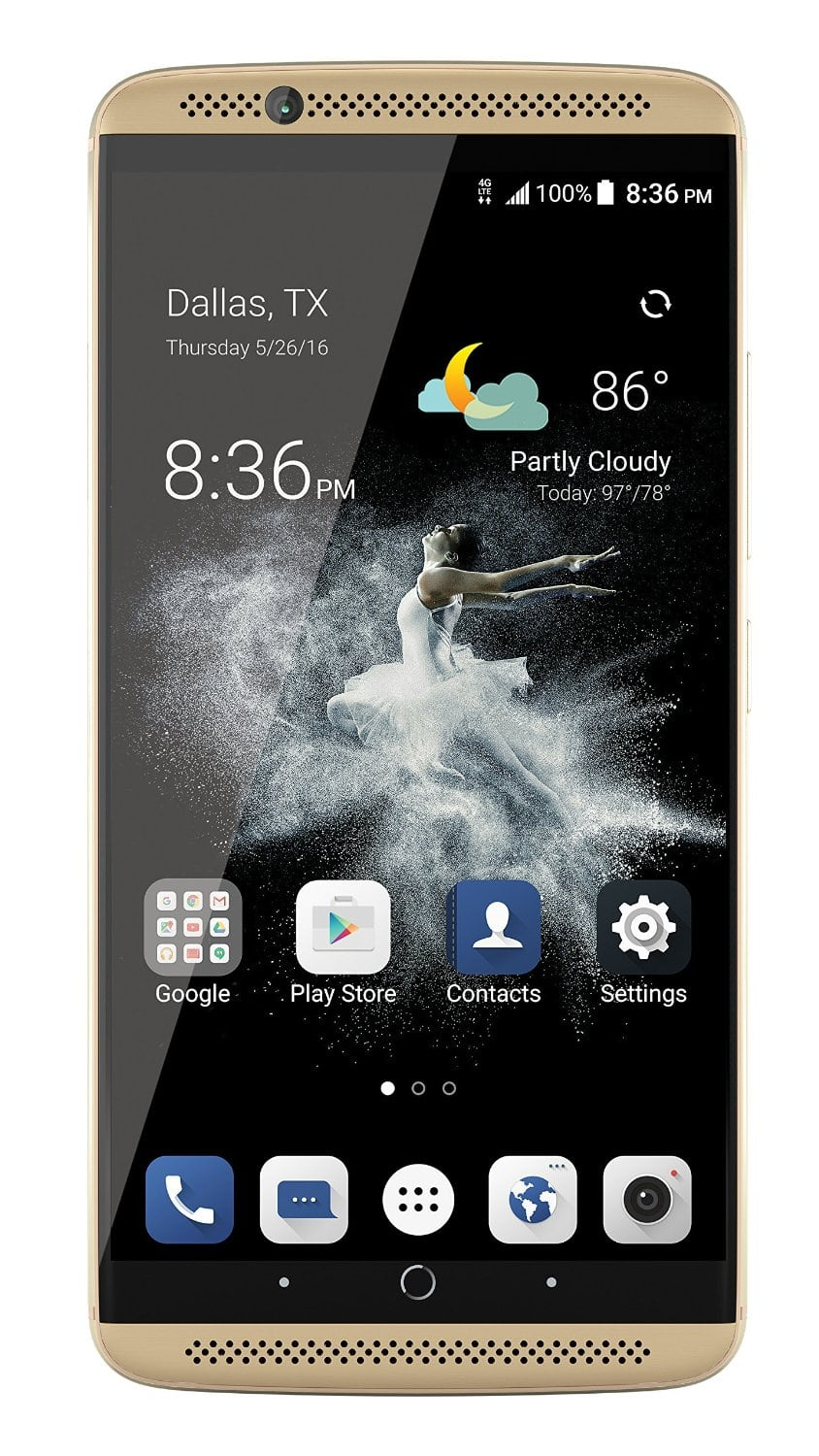 64GB ZTE Axon 7 Unlocked Smartphone (Ion Gold)  $277 + Free Shipping