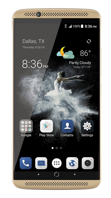 64GB ZTE Axon 7 Unlocked Smartphone (Ion Gold)  $277 + Free Shipping
