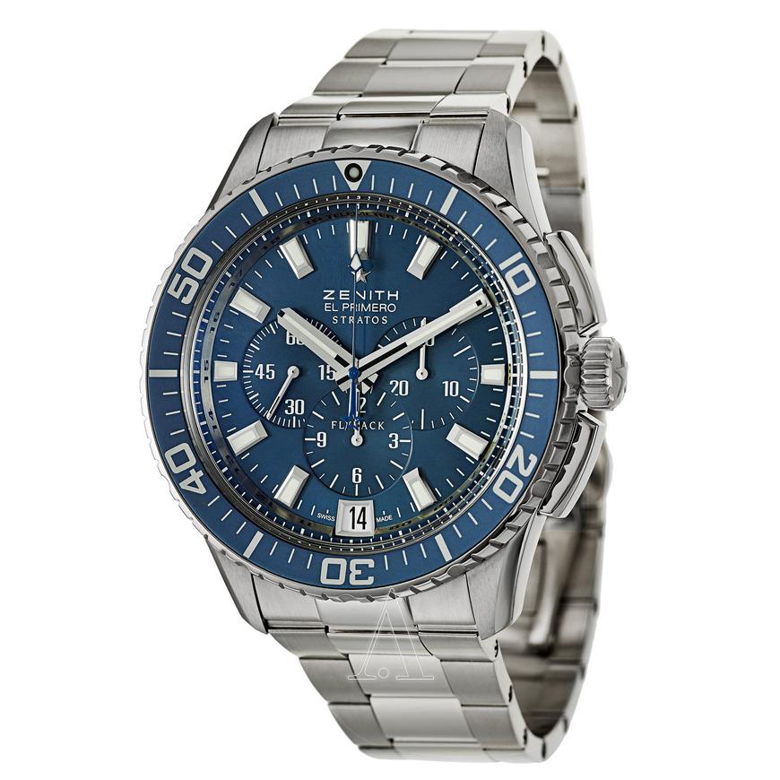 Zenith El Primero Stratos Automatic Chronograph Men's Watch for $3,695
