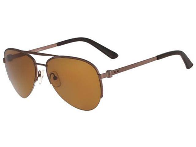 Calvin Klein Men's Polarized Aviator Sunglasses (Brown)  $39 + Free Shipping