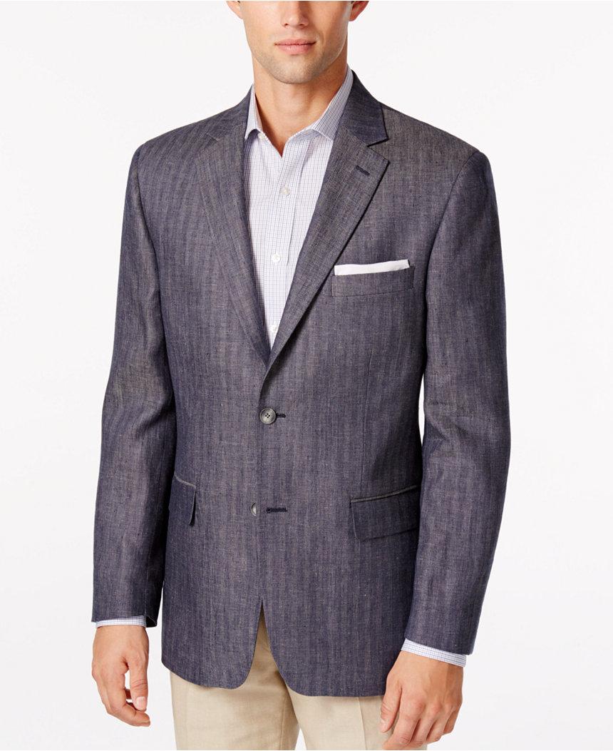 Men's Tasso Blue Herringbone Sport Coat  $20 + $2 Shipping