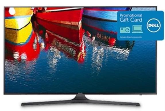 "55"" Samsung KU6300 4K UHD Smart HDTV + $250 Dell eGift Card  $750 + Free Shipping"
