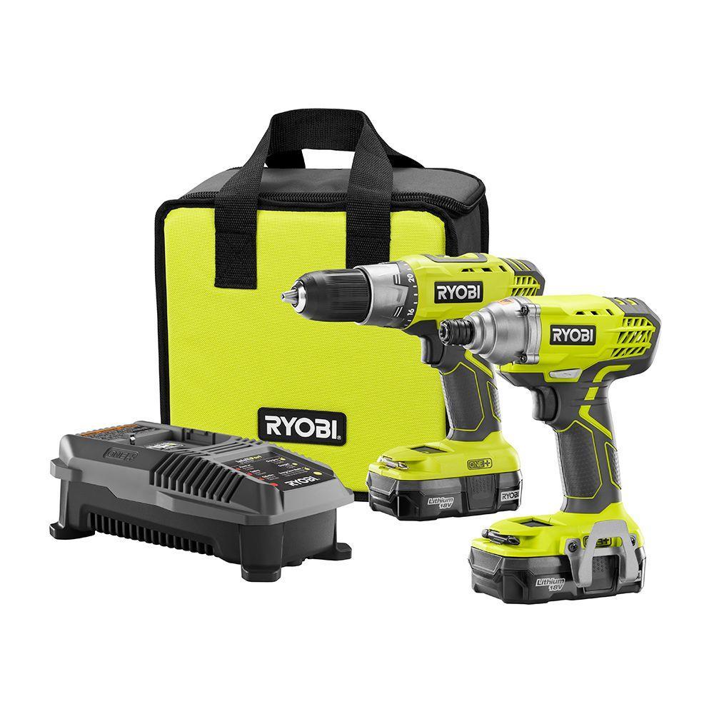 Ryobi 18-Volt One+ Drill & Impact Driver Kit  $91 + Free Shipping