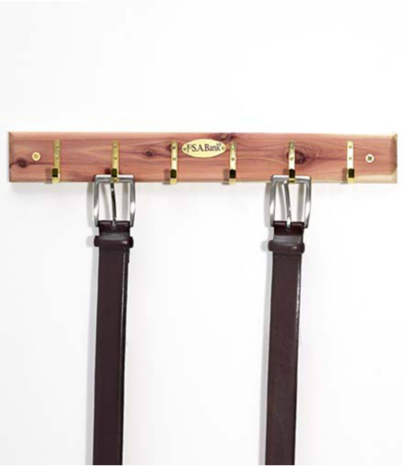 Jos A Banks Accessory Sale: Cedar Belt Rack $3.49, Belt Spinner $3.49, 2-Pack Standard Cedar Hangers $3.49, Cedar Tie Rack $4.99 & More + Free Shipping w/ Bank Account Rewards