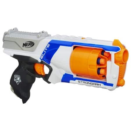 Nerf N-Strike Elite Strongarm Blaster $6.39, Nerf N-Strike Elite 75-Dart Refill $7.67, Nerf N-Strike Elite Stryfe Blaster $12.79 + Free Shipping