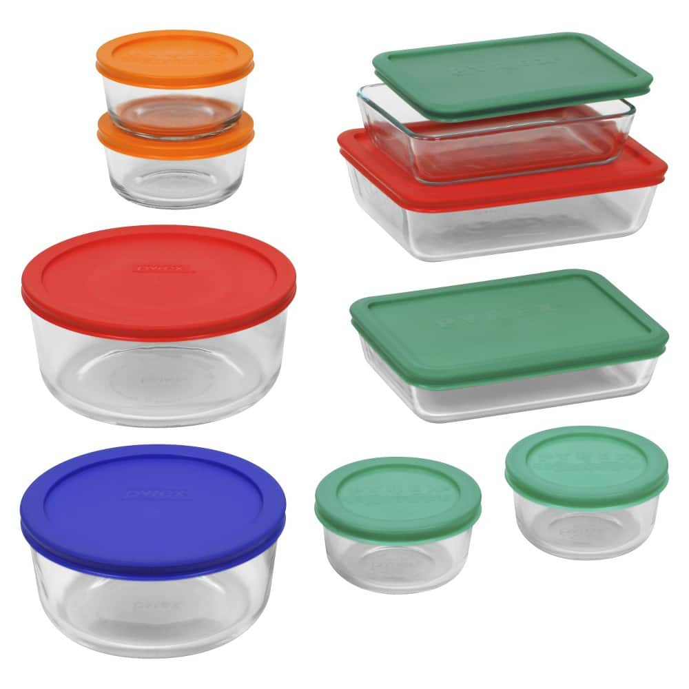 18-Piece Pyrex Storage Set $17.59, 10-Piece Pyrex Storage Set with Lid $9.21, 8-Piece Pyrex Easy Grab Set $10.23 & More + Free Shipping