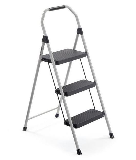 Gorilla Ladders 3 Step Compact Steel Step Stool 225lb