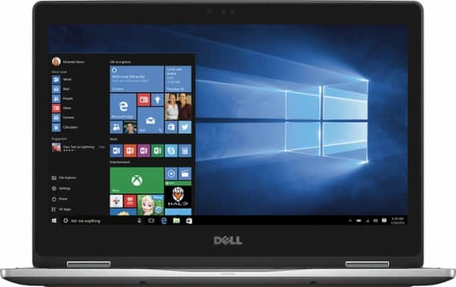 "Dell Inspiron 2-in-1 13.3"" Touchscreen Laptop: i5-7200U, 8GB DDR4, 256GB SSD, Win 10 $589.99 (Open-Box Excellent $500.99) + Free Shipping"