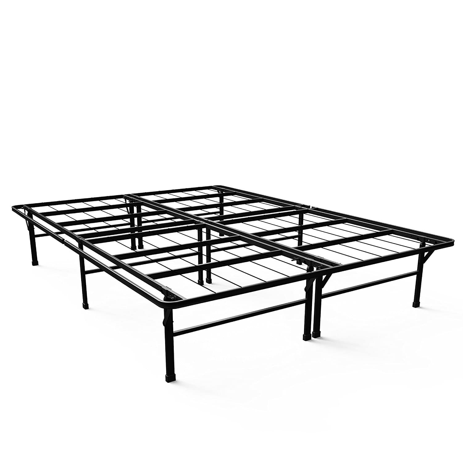 Zinus 14 smartbase deluxe platform bed frame queen 61 for Bed frame and mattress deals