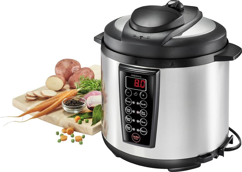 6-Quart Insignia 1000W Multi-Function Pressure Cooker (Stainless Steel/Black) $39.99 + Free Shipping
