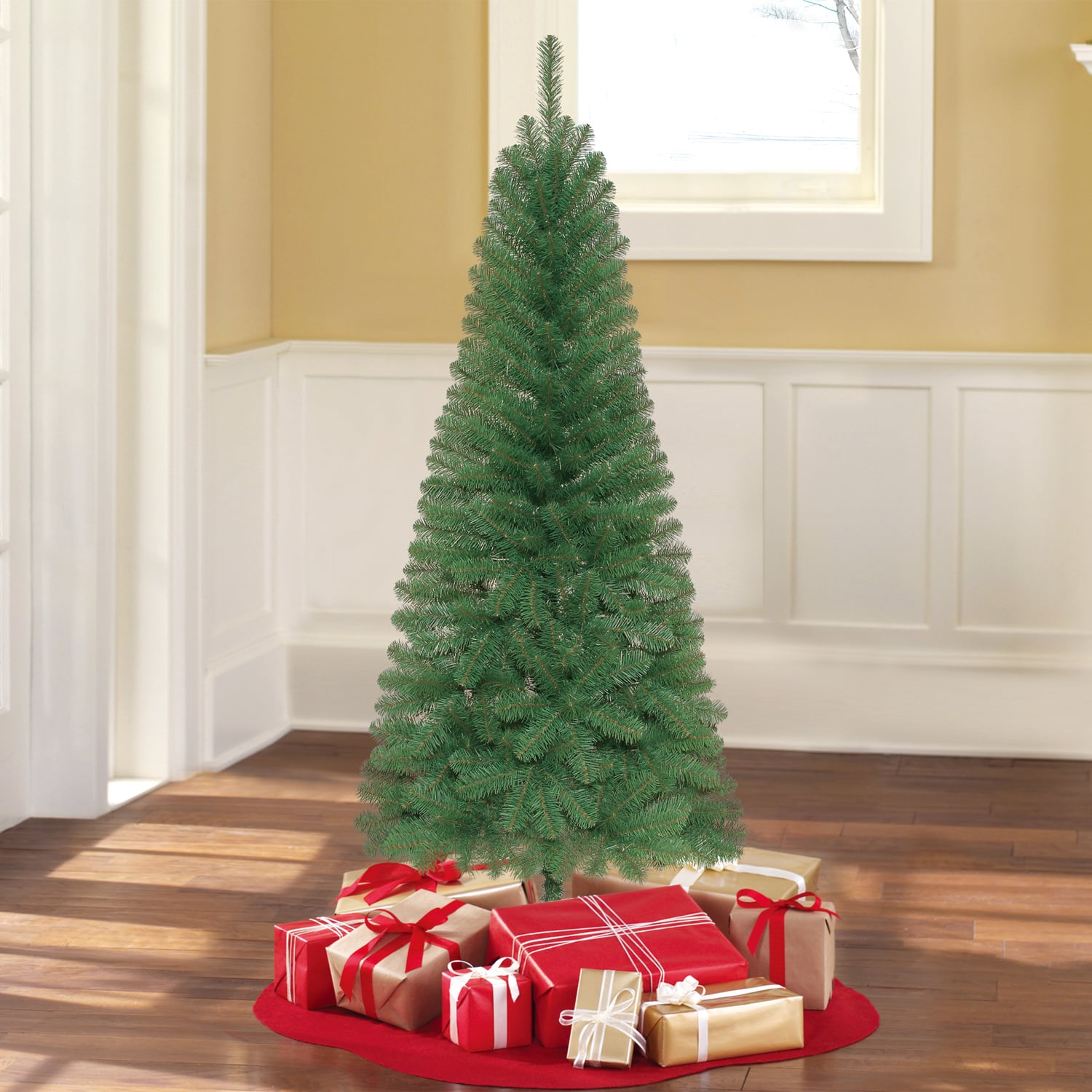 Holiday Time Christmas Tree.6 Holiday Time Unlit Wesley Pine Artificial Christmas Tree