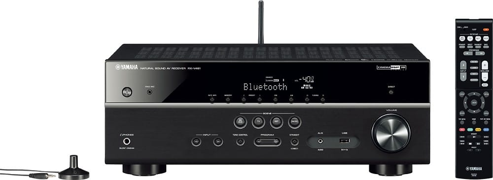 Yamaha RX-V481BL 725W 5.1-Channel 4K Ultra HD and 3D Pass-Through Home Theater Receiver $264.99 + Free Shipping