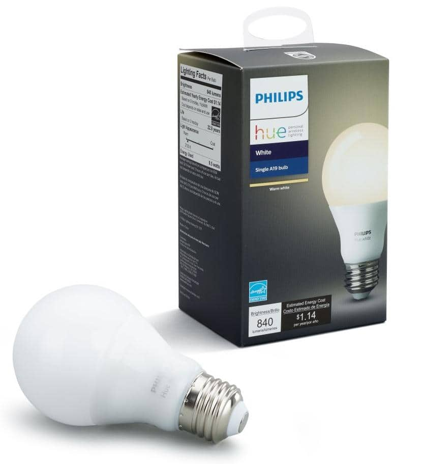 Google Express App: 4x Philips Hue White Smart A19 Light Bulb (2700K) $31.97 + Free Shipping