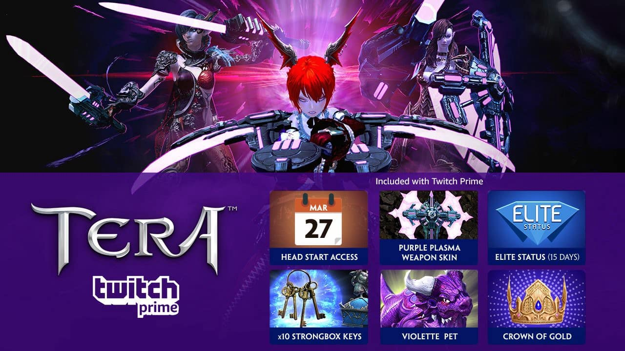 Twitch Prime Members: TERA Twitch Prime Pack In-Game Loot (PS4 or