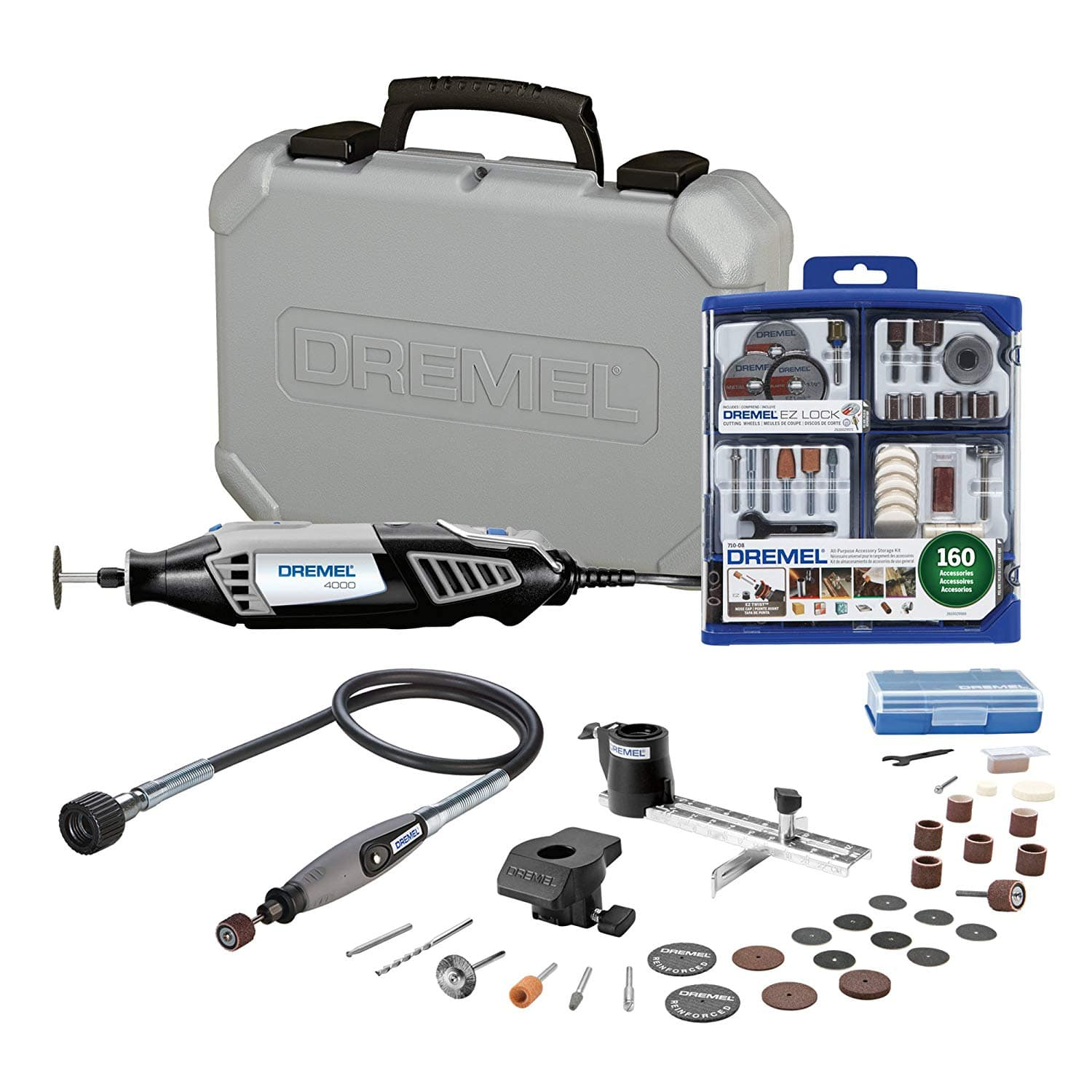 prime members dremel 4000 2 30 rotary tool w 160 pc acc kit flex shaft attachment page 3. Black Bedroom Furniture Sets. Home Design Ideas
