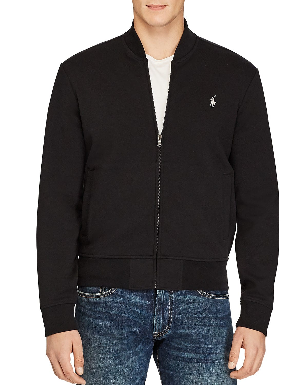 12c4e8014 Polo Ralph Lauren Men's Double-Knit Bomber Jacket (Polo Black, L-XXL ...