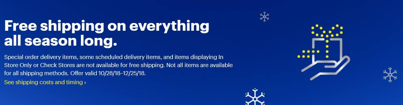 Best Buy: Free Shipping on Everything Site-wide *from 10/28-12/25*