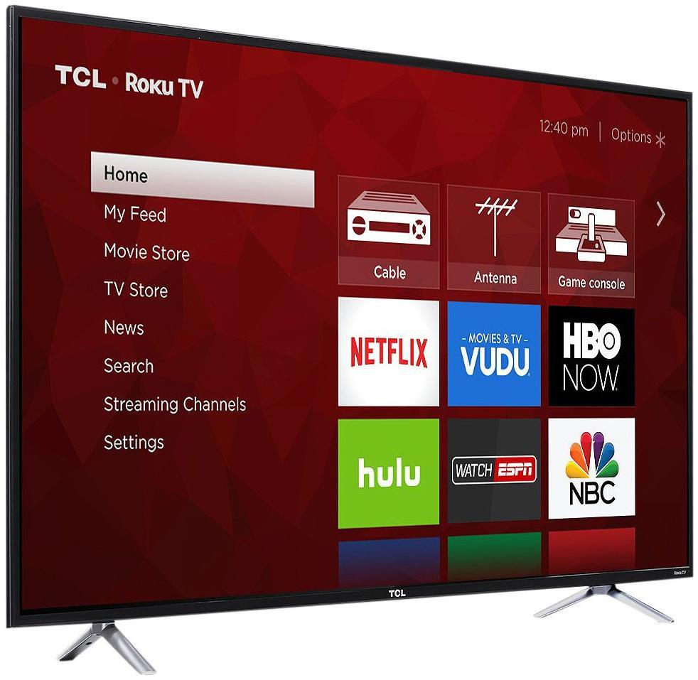 """55"""" TCL 55S405 4K UHD HDR Roku Smart LED HDTV $297.49, 65"""" TCL 65S405 4K UHD HDR Roku Smart LED HDTV $509.99 + Free Store Pickup"""