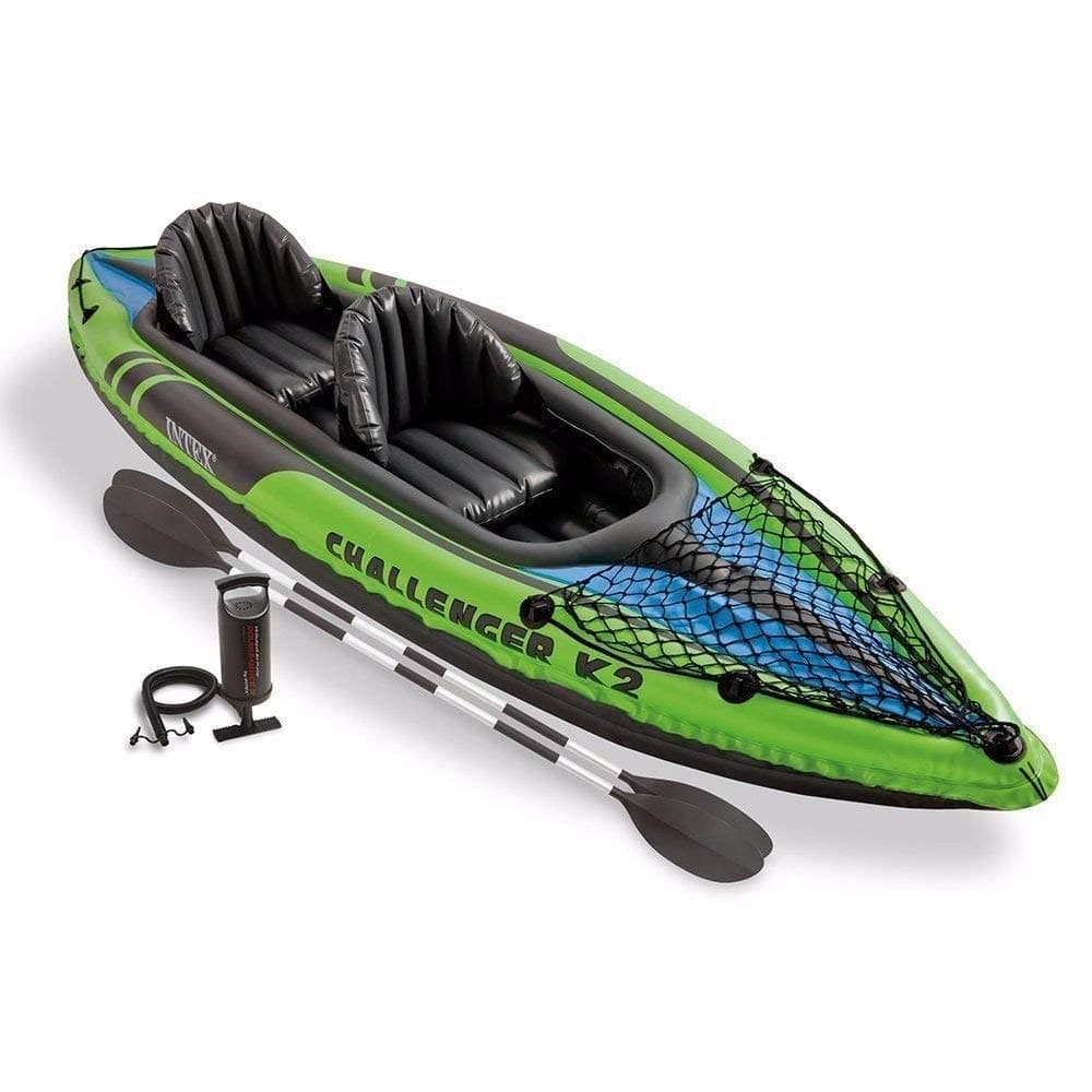 Intex Challenger K2 Inflatable Kayak ww/ Oars and Hand Pump