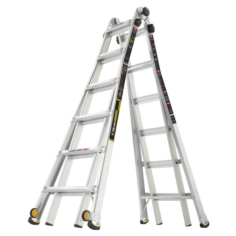 Gorilla Ladders 26' Reach MPX Aluminum Multi-Position Ladder w/ Wheels (375lb Load Capacity; GLMPX-26W) $149 + Free Store Pickup