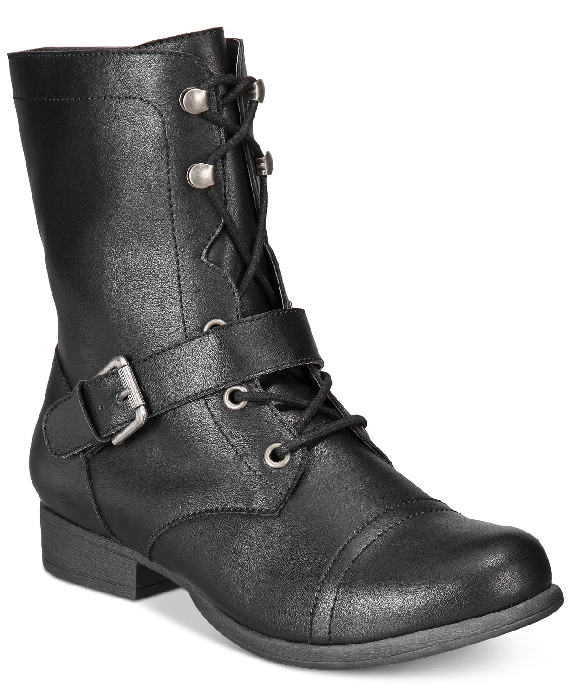 df24a339906 American Rag Women s Farahh Combat Booties (Black or Brown ...