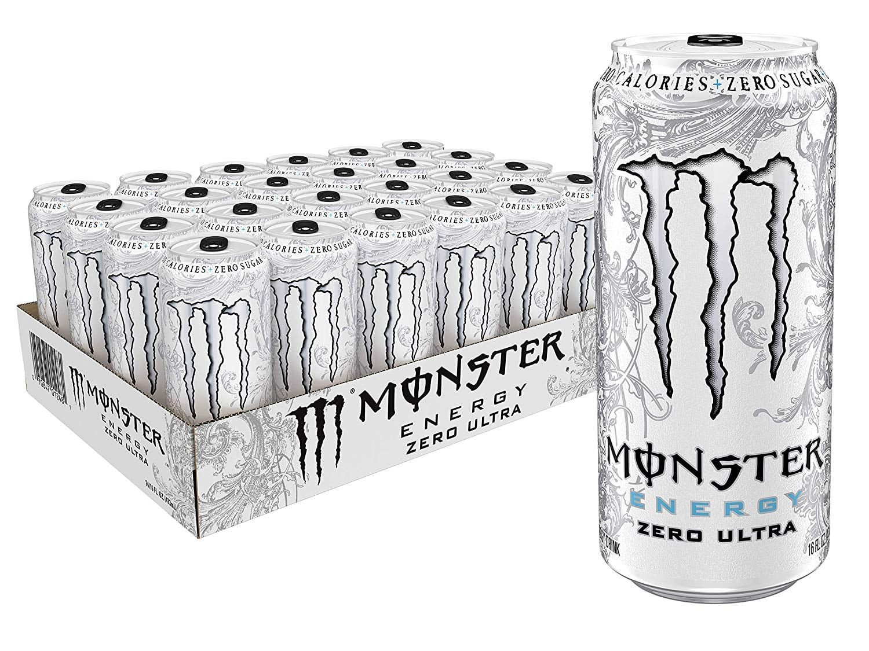 24-Pack 16oz Monster Energy Zero Ultra Sugar Free Energy Drinks
