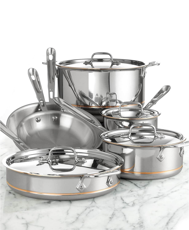 10-Piece All-Clad Copper Core Cookware Set - Slickdeals net