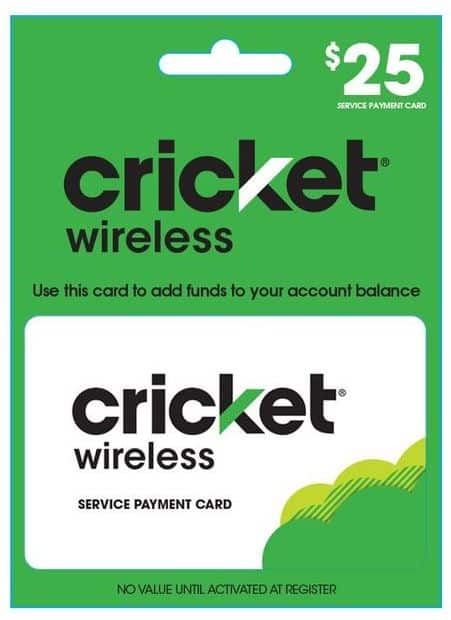 Prepaid Phone Refill Cards: Cricket, TracFone, Verizon, AT&T