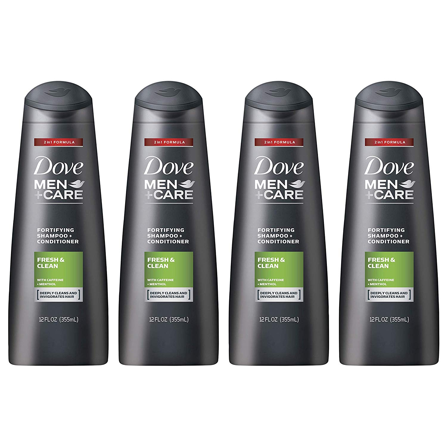 4-Count 12oz Dove Men+Care 2 in 1 Shampoo and Conditioner (Fresh and Clean) $9.05 + Free Shipping w/ Prime or FSSS