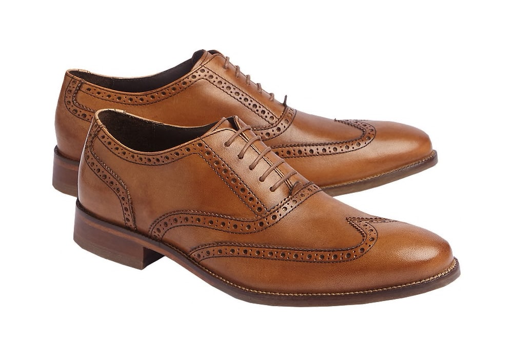 diversified in packaging choose latest limited price Cole Haan Men's Williams Wingtip Oxford Shoes (Tan) EXPIRED