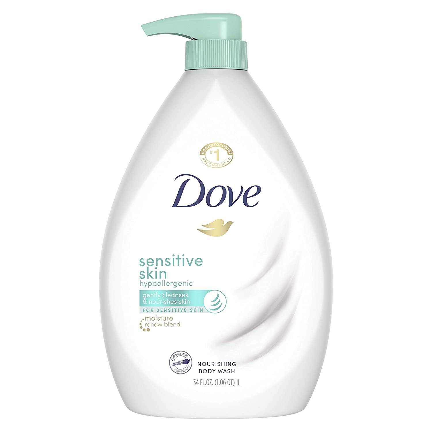 Dove Body Wash for Softer and Smoother Skin Sensitive Skin , 34 oz $5.58