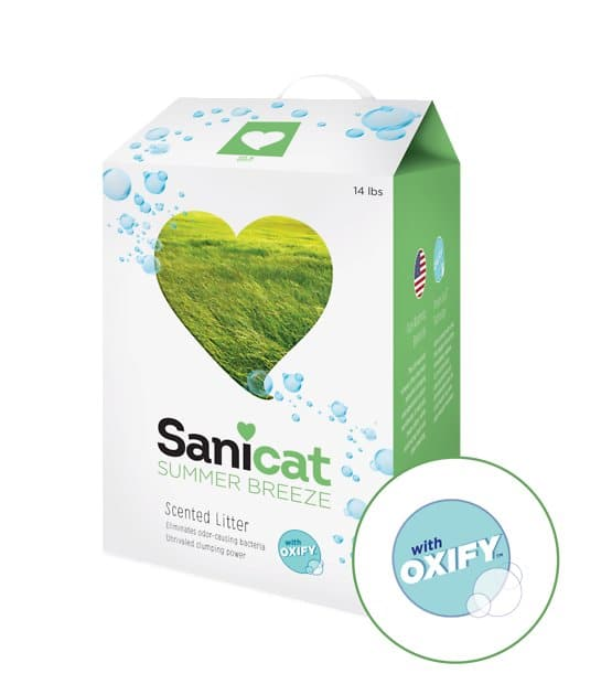 14lb Sanicat Oxify Scented Cat Litter $5 @ chewy.com