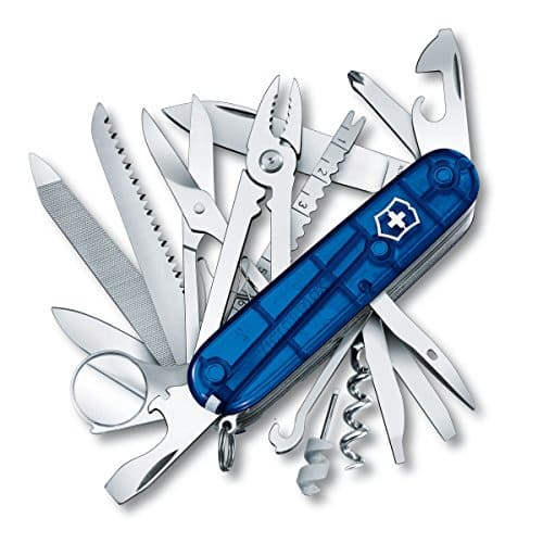 Victorinox Swiss Army Multi-Tool, SwissChamp Pocket Knife, Sapphire $59.99