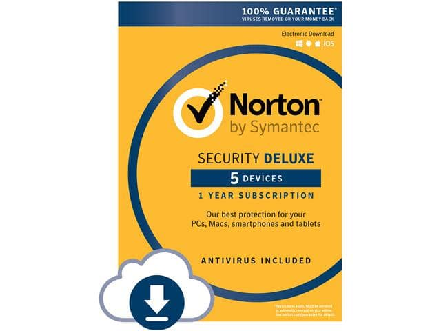 Norton Security Deluxe 5 Devices Digital Download $19.99