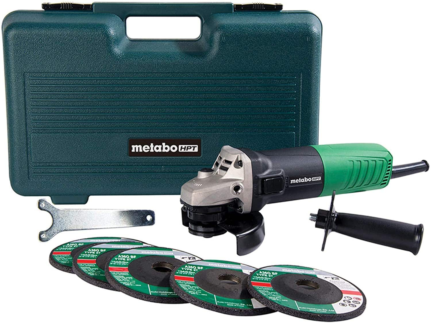 "Metabo HPT (Hitachi Power Tools) 4-1/2"" 6-amp Angle Grinder $39 w/ FS"