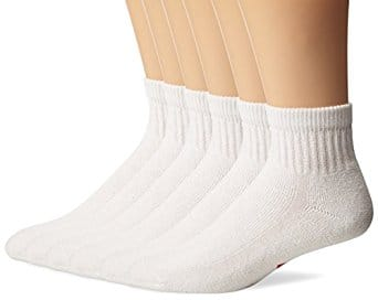 Wigwam Made in USA premium white gym socks, $14/6 pairs, multiple sizes, Amazon Prime, lowest price in years!